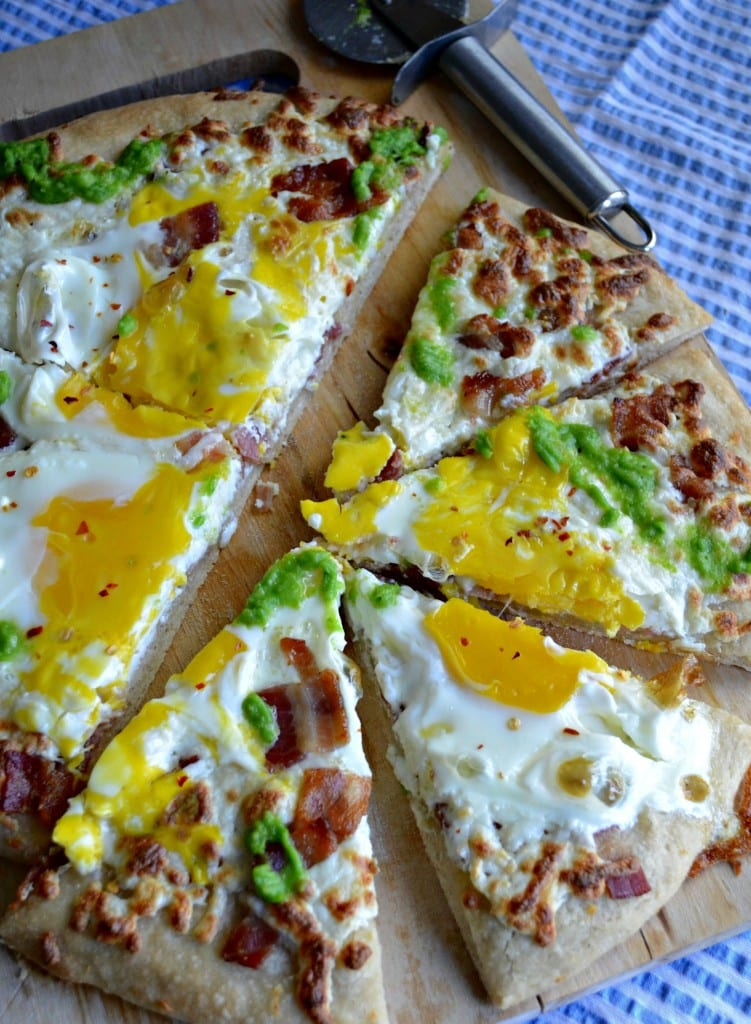 Pizzza Carbonara with Pea Pesto | Sarcastic Cooking