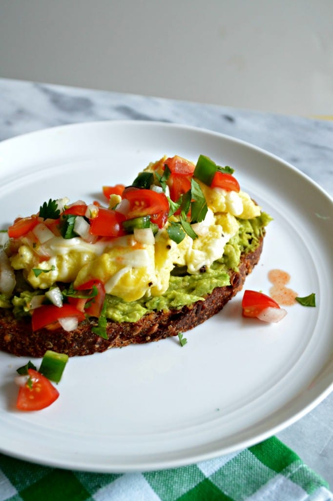 Cheesy Scrambled Egg and Pico de Gallo Avocado Toast   Sarcastic Cooking