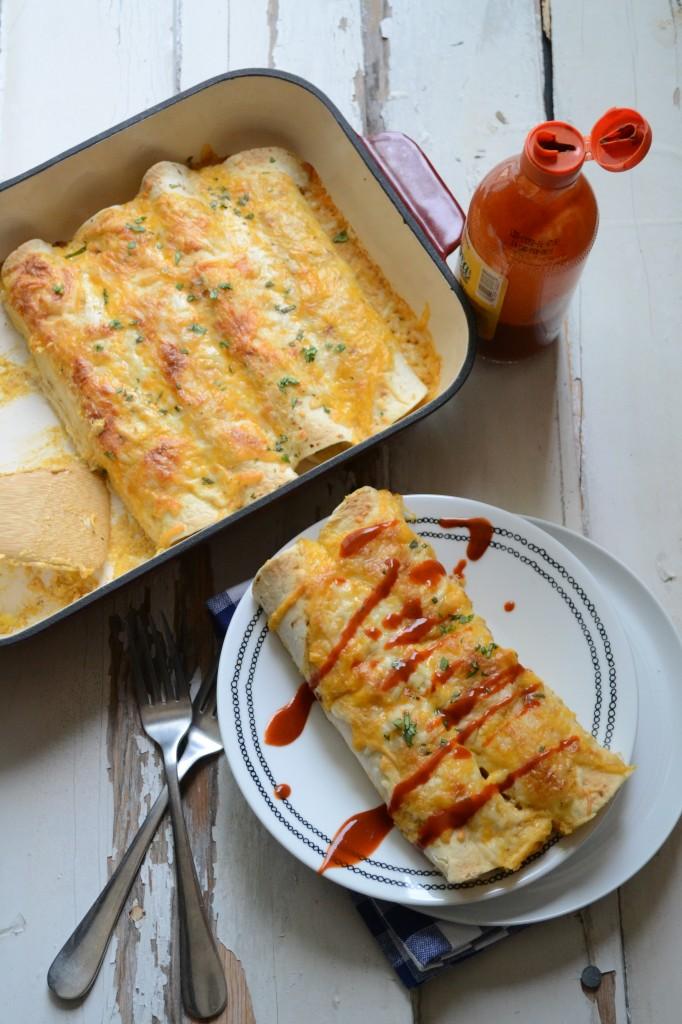 Sweet Corn and Jalapeno Enchiladas | Sarcastic Cooking