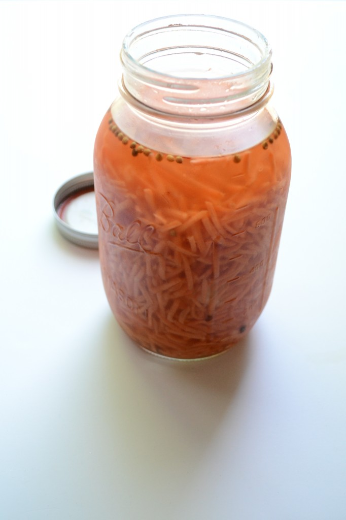 Pickled Chipotle Carrot Straws   Sarcastic Cooking