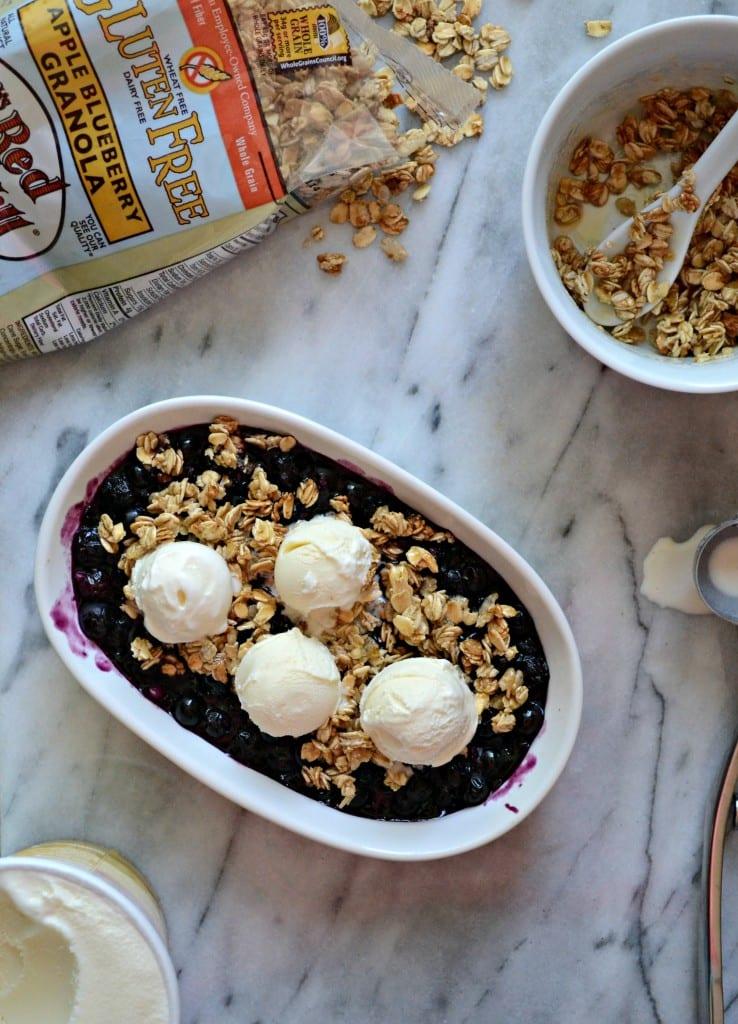 No Bake Gluten Free Blueberry Crisp | Sarcastic Cooking