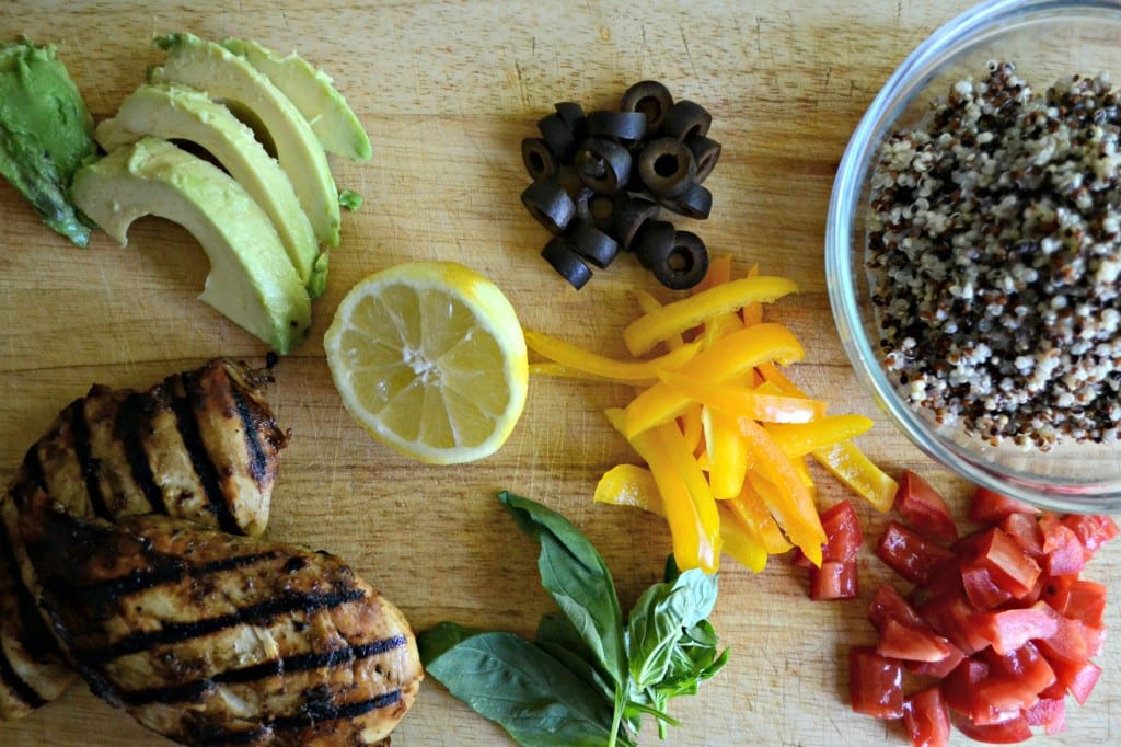Quinoa Bowl Ingredients