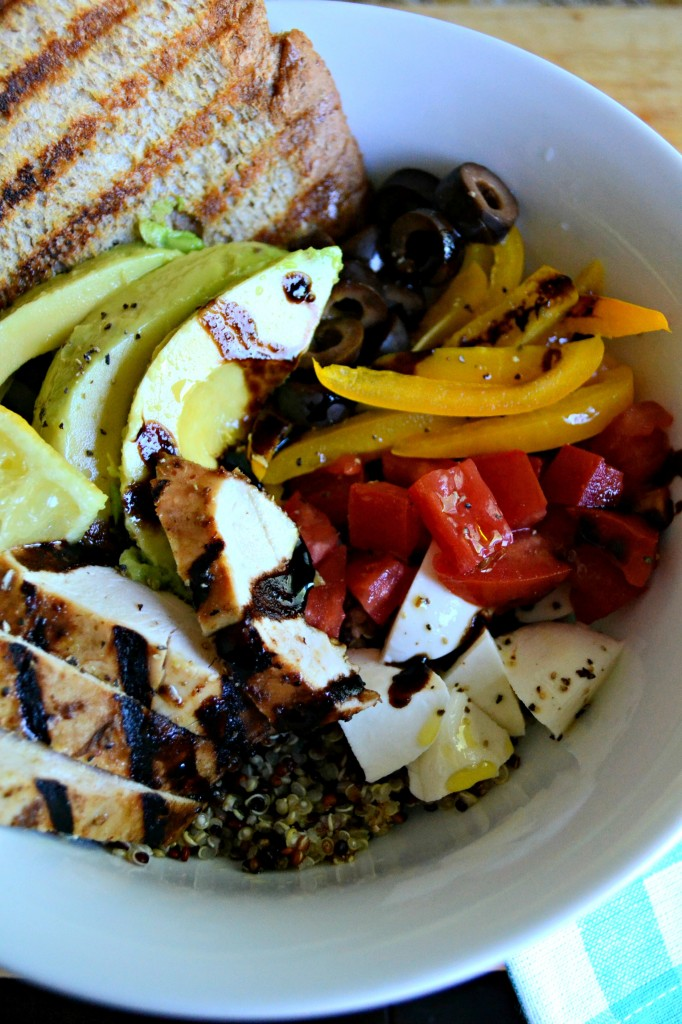 Grilled Balsamic Lemon Chicken Quinoa Bowls | Sarcastic Cooking