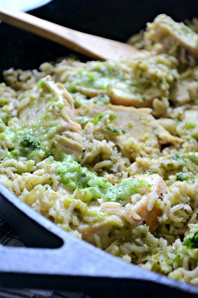 Green Rice and Chicken an easy one pot meal @sarcasticcook
