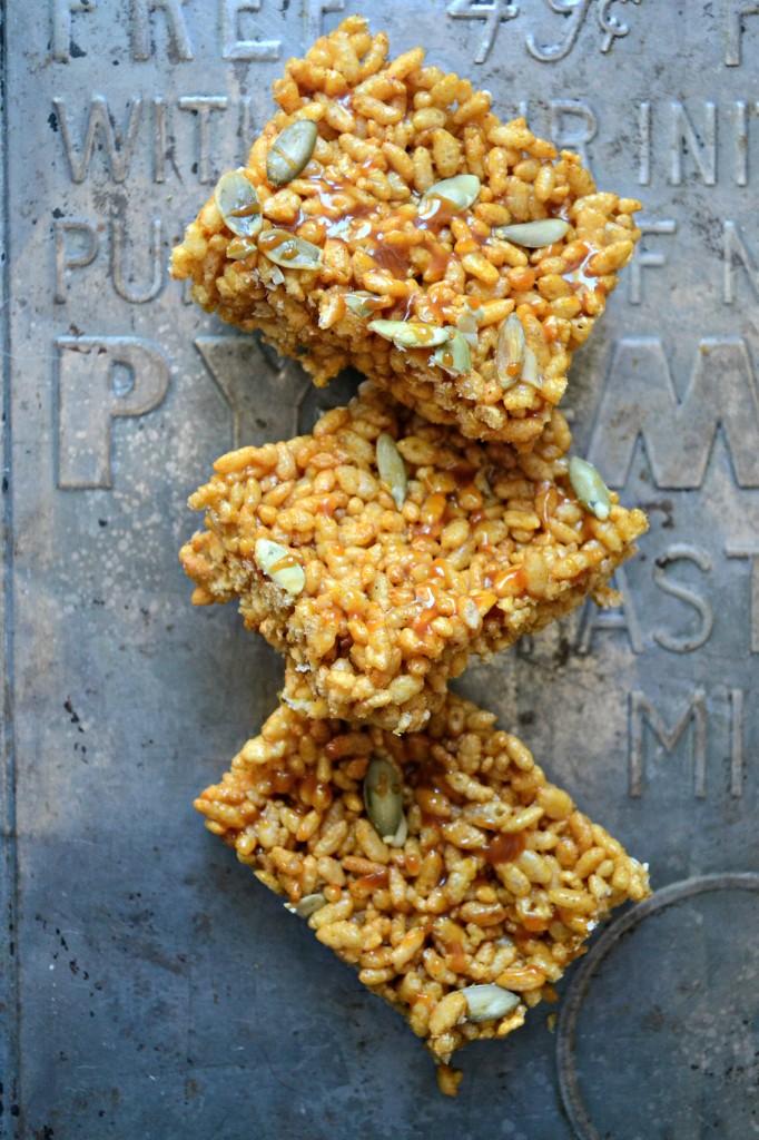 Pumpkin Brown Butter Brown Rice Crispy Treats   Sarcastic Cooking