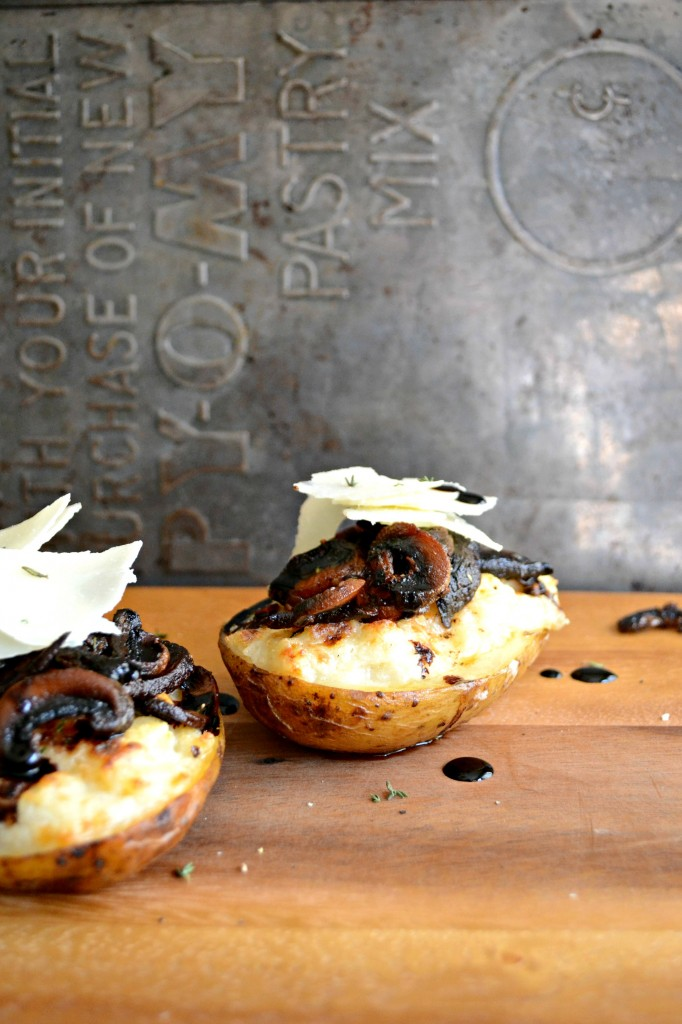 Meatless Monday: Twice Baked Potatoes with Crispy Mushrooms and Herbs