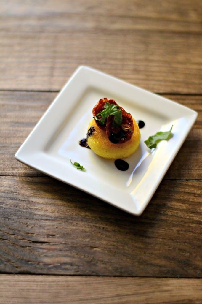 Meatless Monday: Crispy Polenta Bruschetta Bites | Sarcastic Cooking
