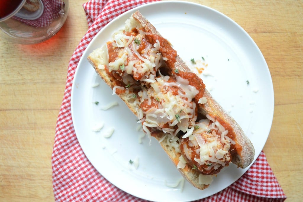 Chicken and Mushroom Meatball Subs @sarcasticcook