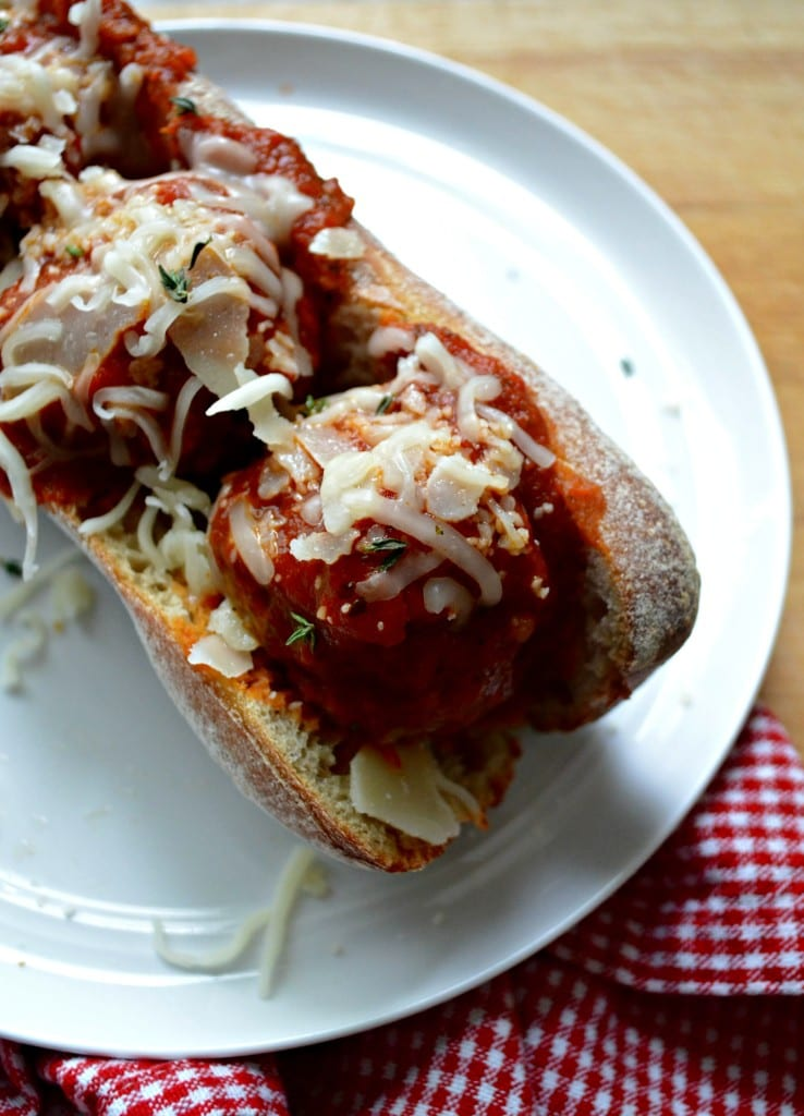 Chicken and Mushroom Meatball Subs | Sarcastic Cooking