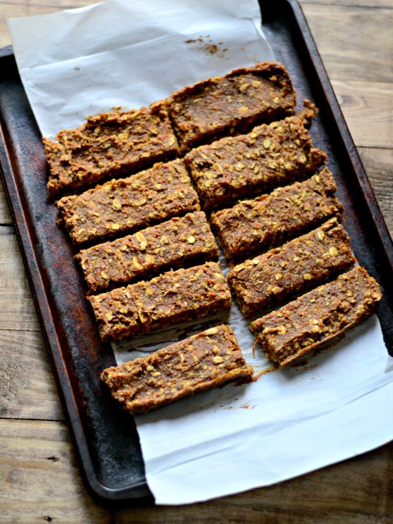 Carrot and Date (6 Ingredients!) Granola Bars   Sarcastic Cooking