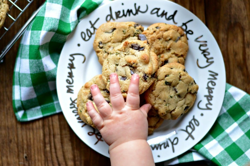 Fresh Mint and Dark Chocolate Chunk Cookies @sarcasticcook