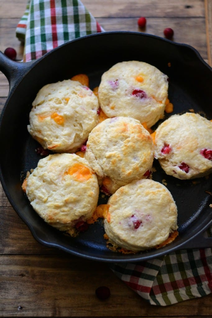 Cheddar Cranberry Buttermilk Biscuits | Sarcastic Cooking