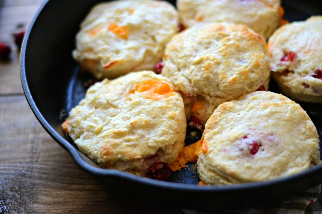 Cheddar Cranberry Buttermilk Biscuits