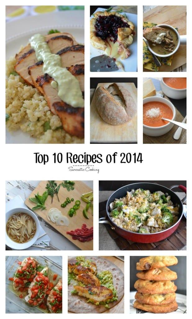 Top 10 Recipes 2014 @sarcasticcook