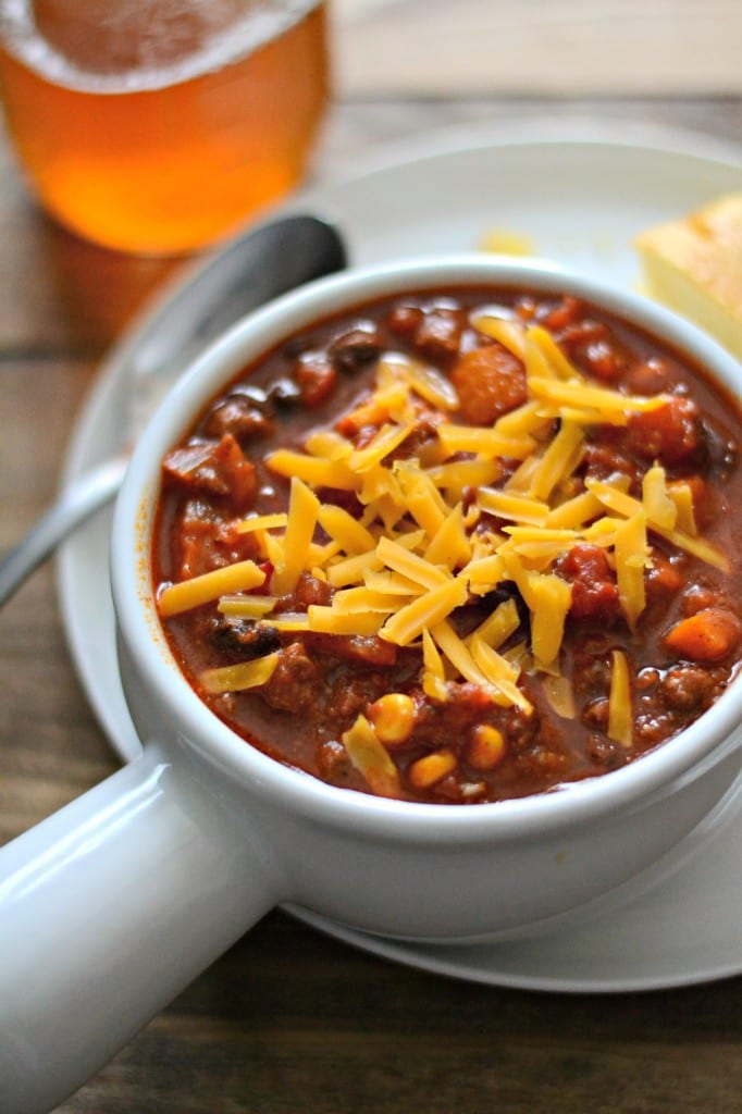 No Fuss Beef and Black Bean Chili | Sarcastic Cooking