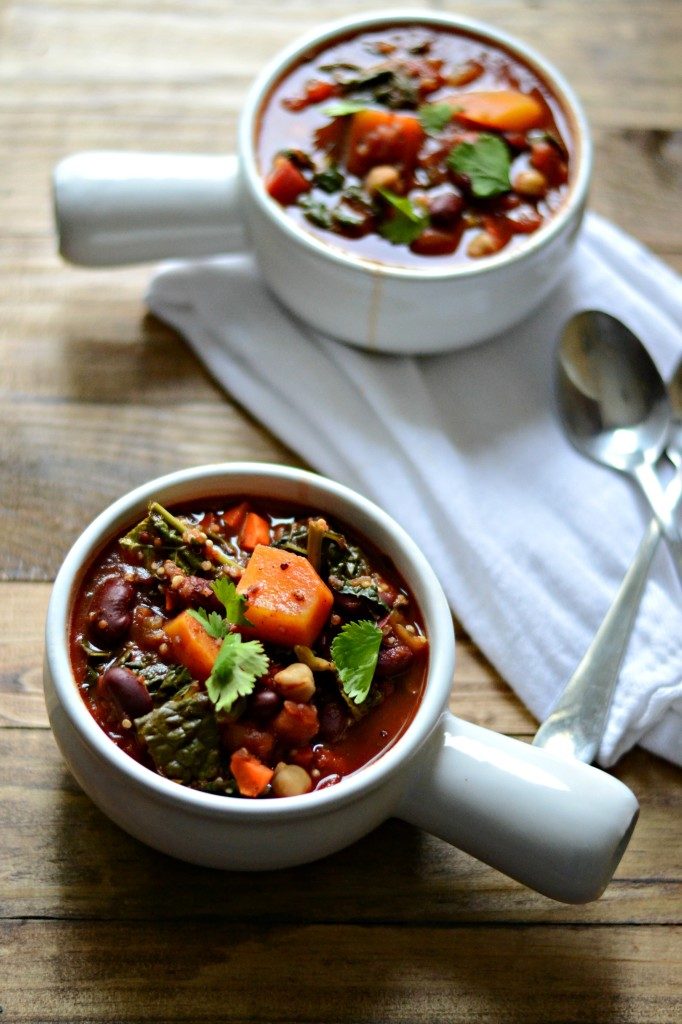 Slow Cooker Butternut Squash, Kale, and Quinoa Chili   Sarcastic Cooking