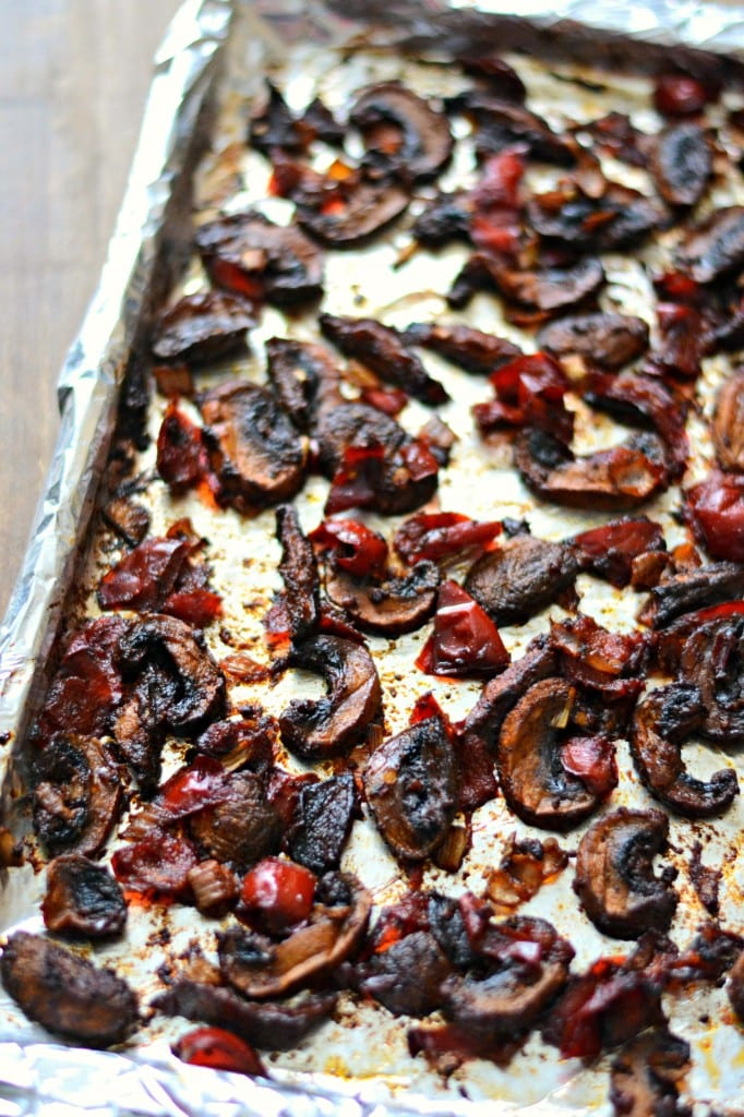 Roasted Mushrooms and Peppers