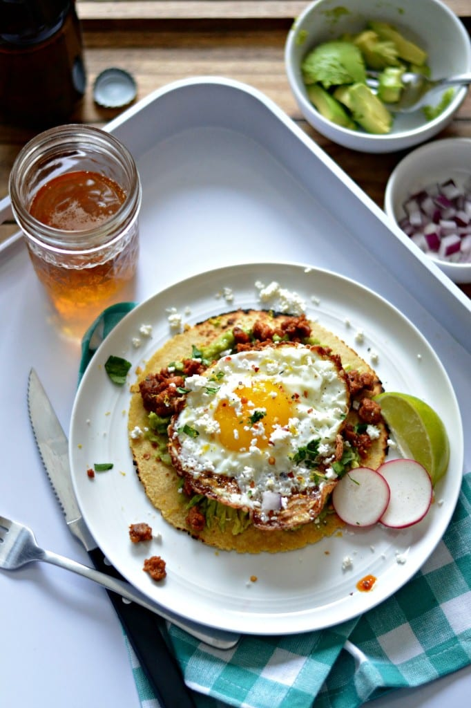 Chorizo and Smashed Avocado Tostatdas with Crispy Fried Egg | Sarcastic Cooking