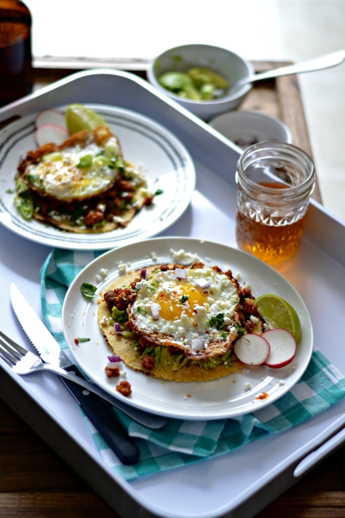 Chorizo and Smashed Avocado Breakfast Tostadas | Sarcastic Cooking