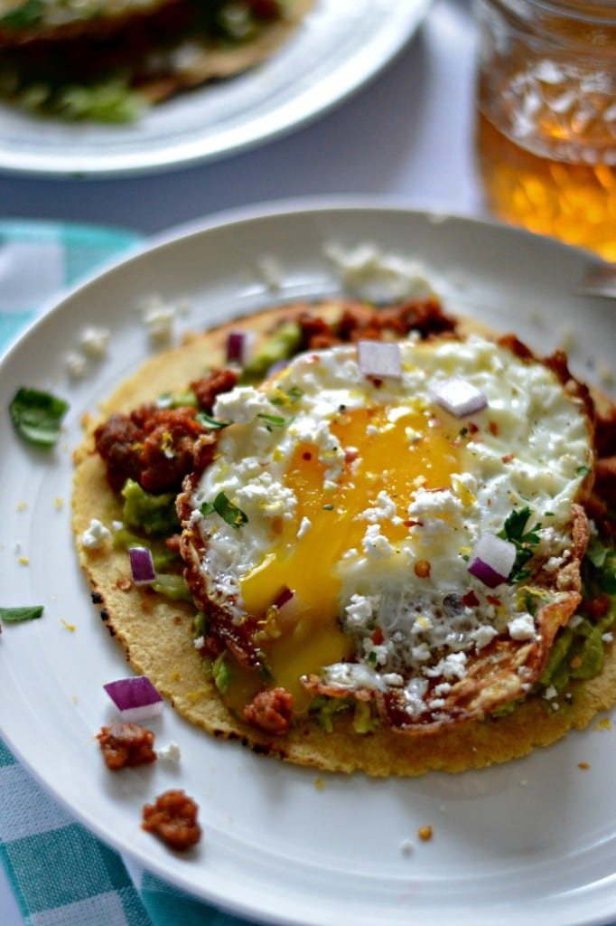Chorizo, Smashed Avocado, and Crispy Fried Egg Tostadas | Sarcastic Cooking