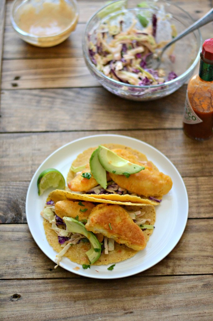 What's for dinner? Crispy Fish Tacos with Southwest Ranch Slaw (20 minute meal!) - Sarcastic Cooking