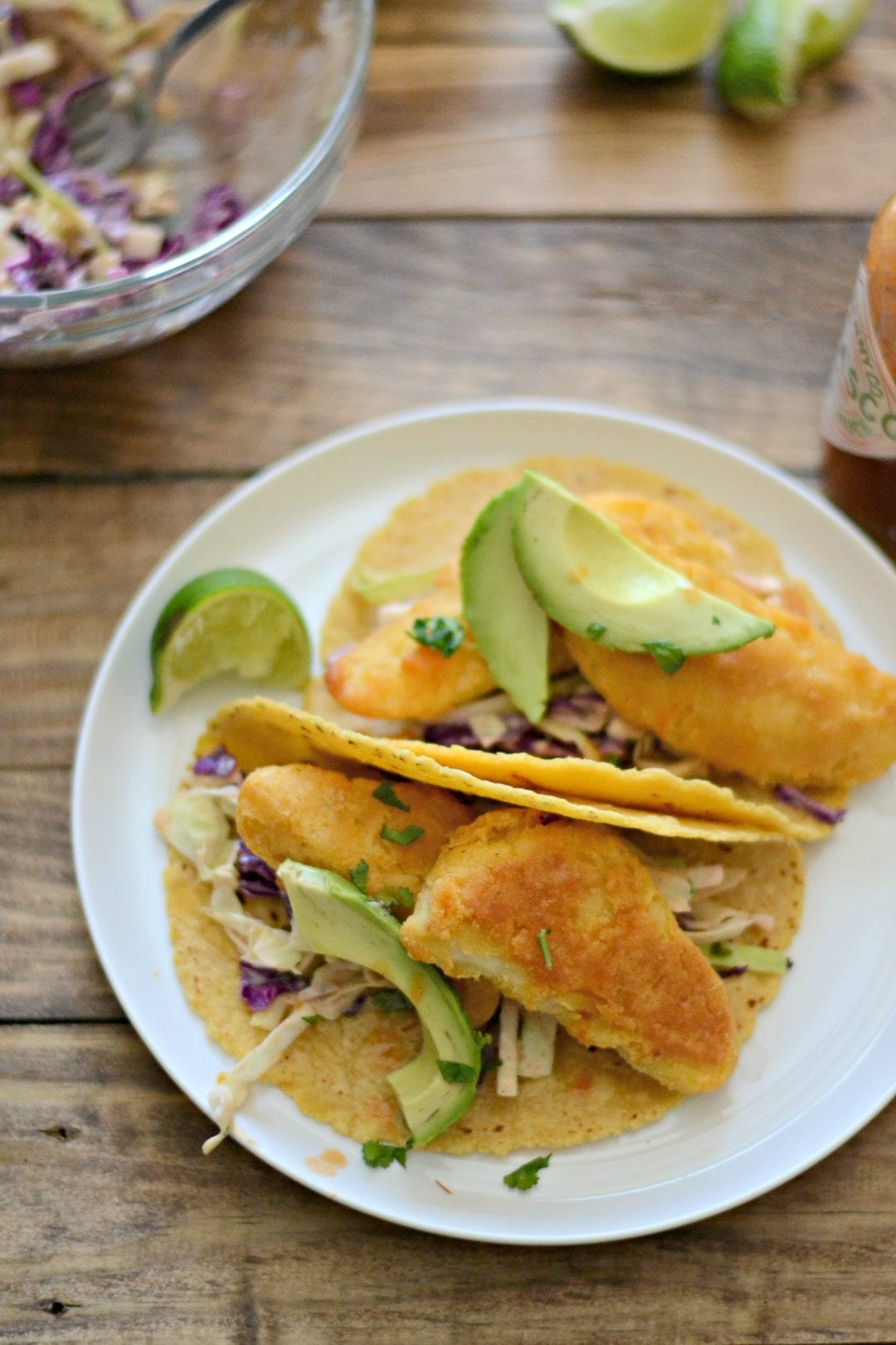Crispy Fish Tacos with Southwest Ranch Slaw | Sarcastic Cooking