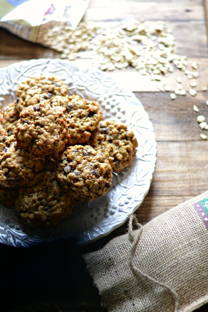 Chewy Cocoa Nib, Walnut, Oatmeal Cookies | Sarcastic Cooking