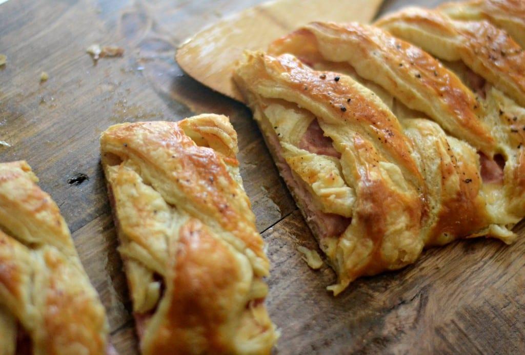 Braided Ham and Cheddar Bread #BrunchWeek