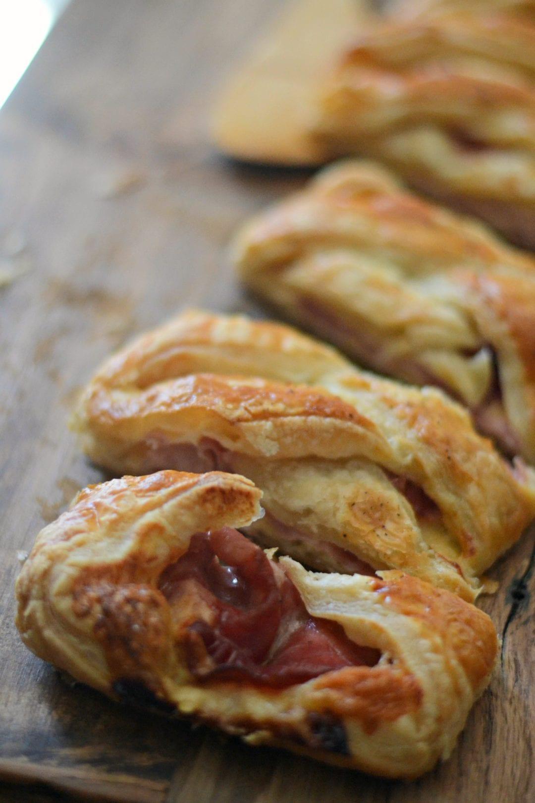 Braided Ham and Cheddar Bread