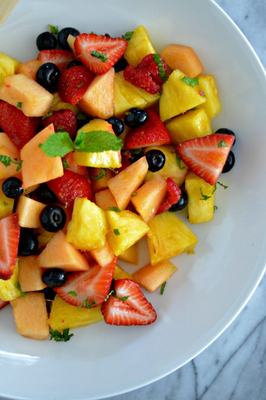 Fresh Mint and Orange Blossom Fruit Salad | Sarcastic Cooking
