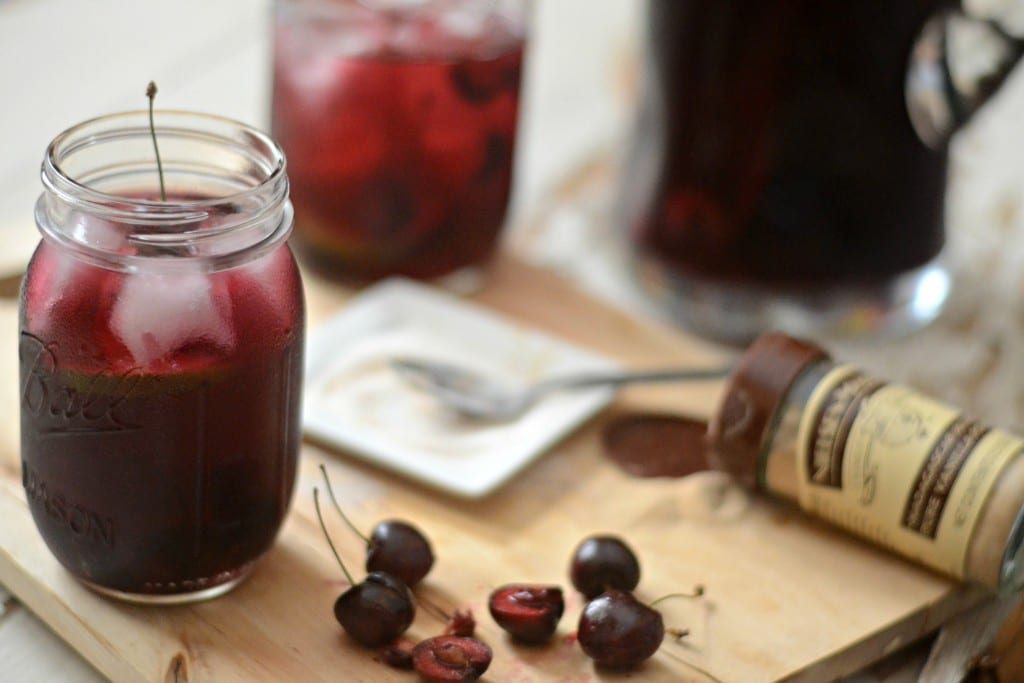 Bourbon Cherry Vanilla Sangria | Sarcastic Cooking