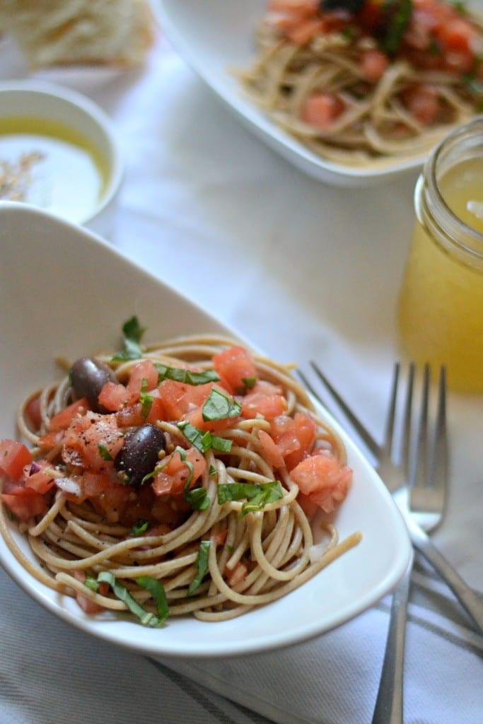 Leftover Bruschetta Spaghetti | Sarcastic Cooking