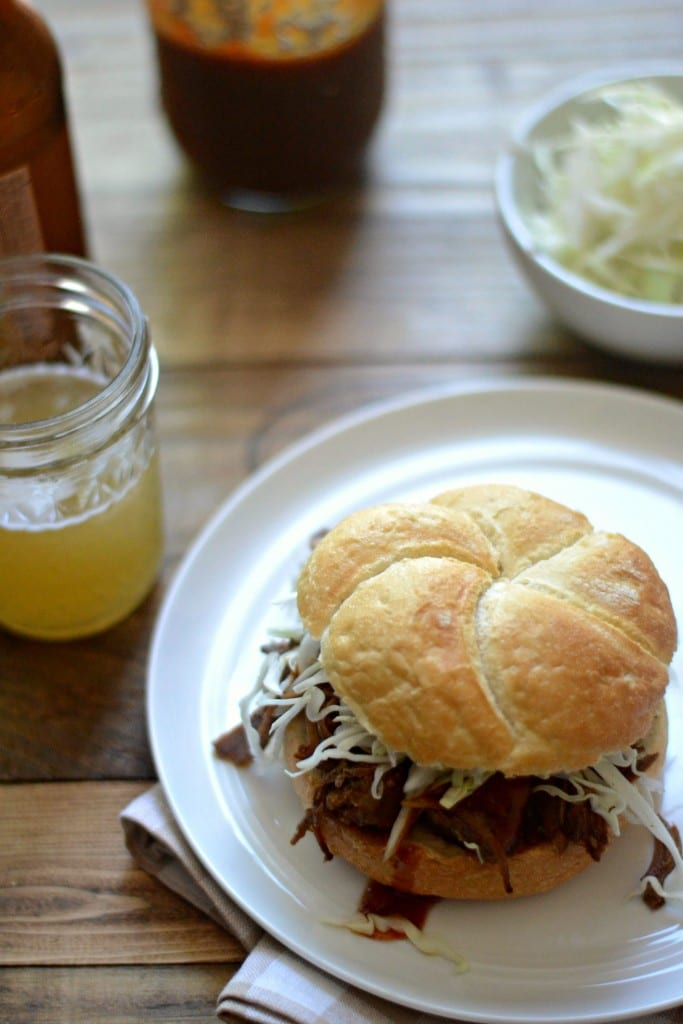 Slow Cooker BBQ Pulled Pork Sandwich | Sarcastic Cooking