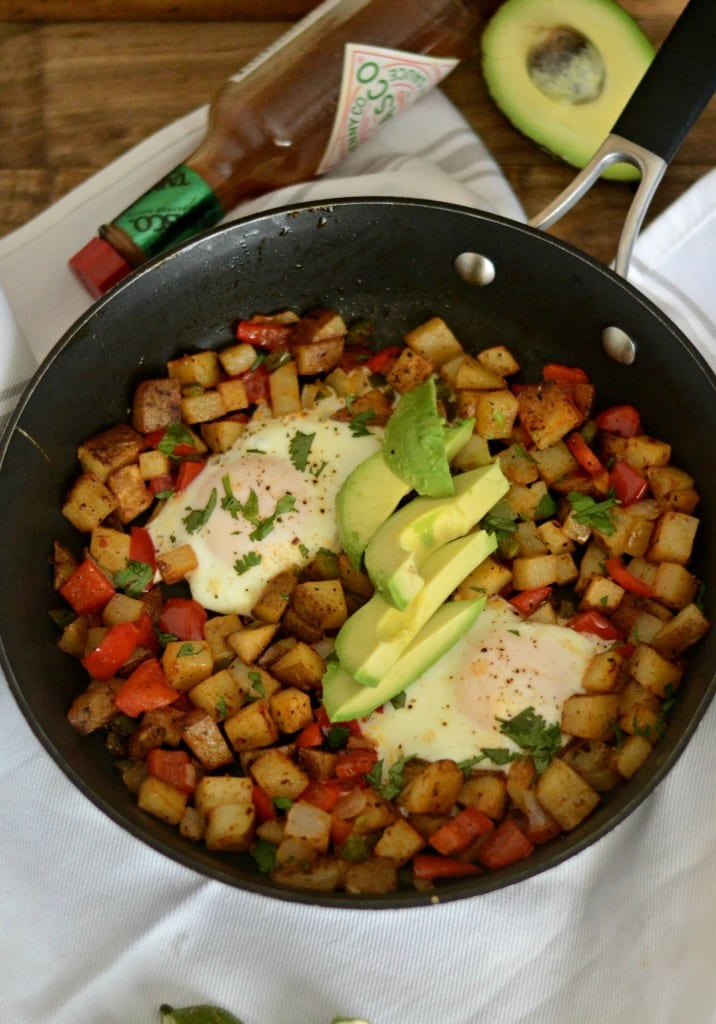 Mexican Hash. Spicy vegetarian hash made with potatoes, bell peppers, jalapenos, and onions. | Sarcastic Cooking