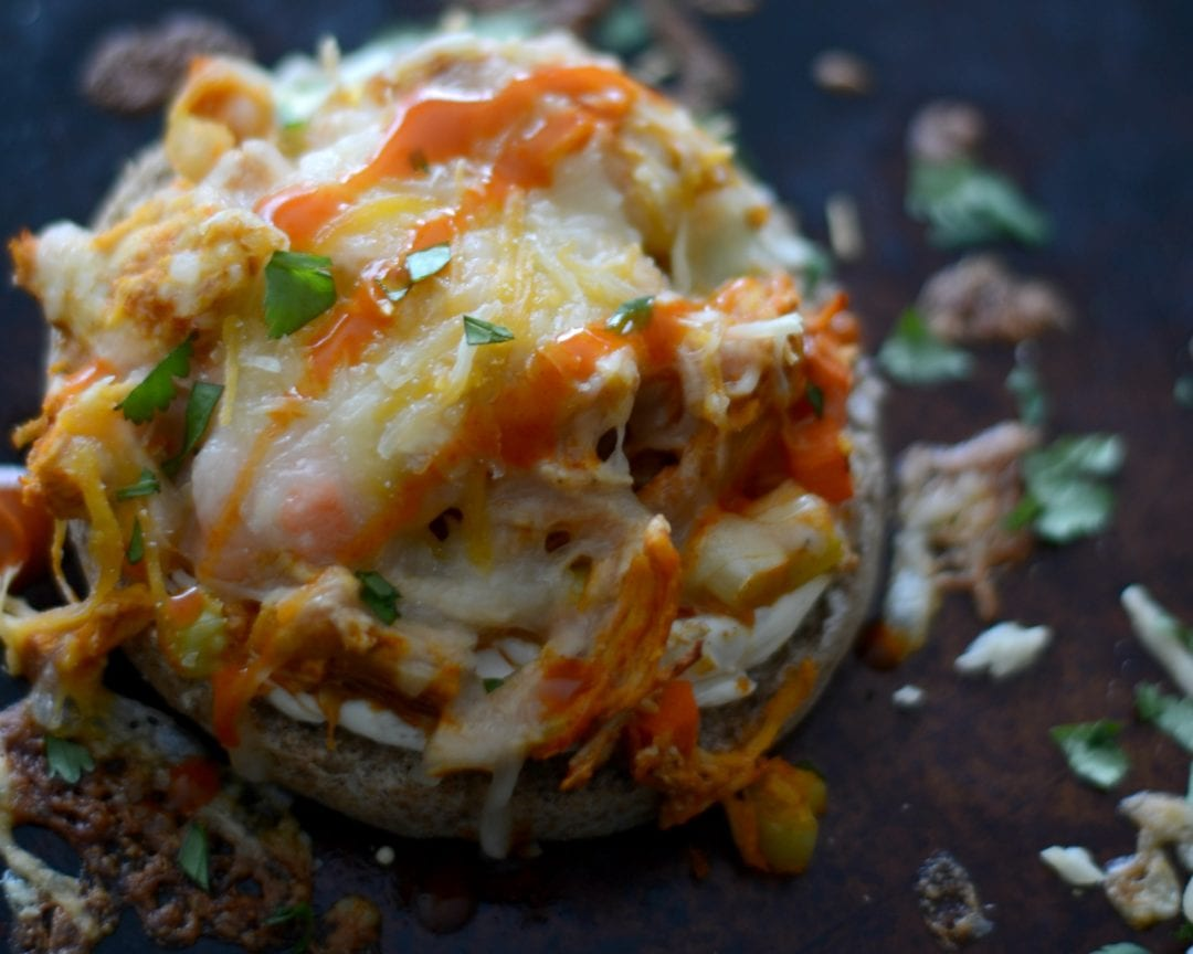 Buffalo chicken dip english muffin pizzas sarcastic cooking forumfinder Choice Image
