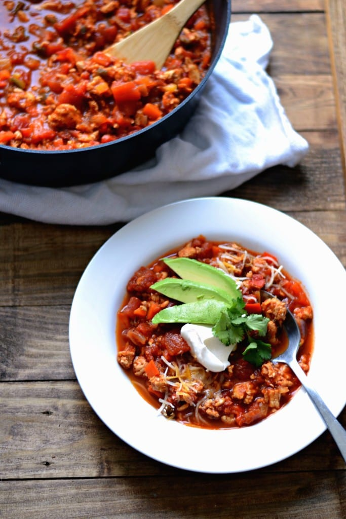 Roasted Jalapeño Turkey Chili (hearty, spicy, & healthy) - Sarcastic Cooking