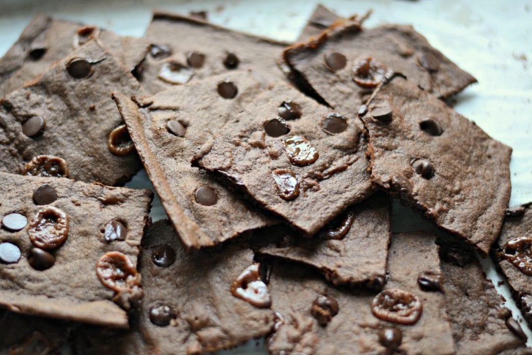 Chocolate Chip and Caramel Brownie Crisps sarcasticcooking.com