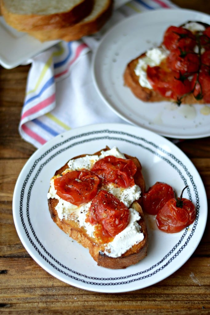 Simple Burst Tomato and Ricotta Toast | Sarcastic Cooking