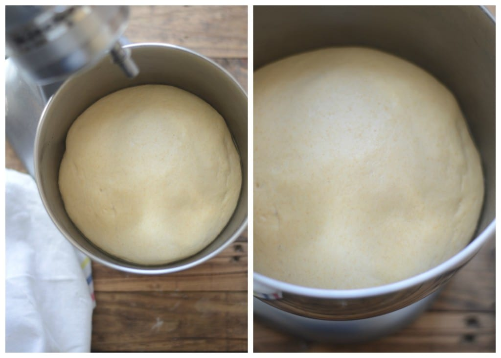 Risen Pizza Dough