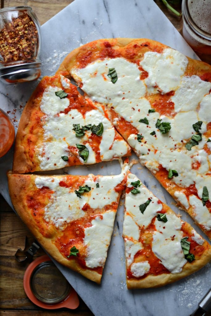 Spicy Roasted Red Pepper and Burrata Pizza - Sarcastic Cooking