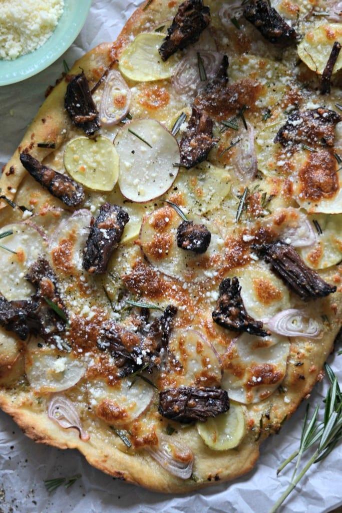 Short Rib, Potato, & Shallot Pizza