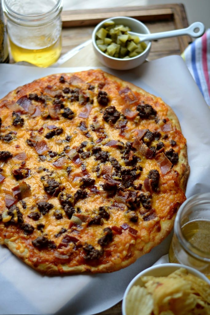 The Ultimate bacon Cheeseburger Pizza with secret pizza sauce - Sarcastic cooking