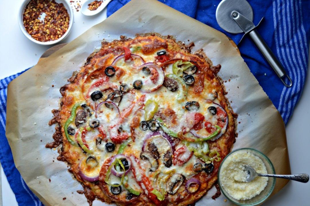 Super Cheesy Cauliflower Pizza Crust