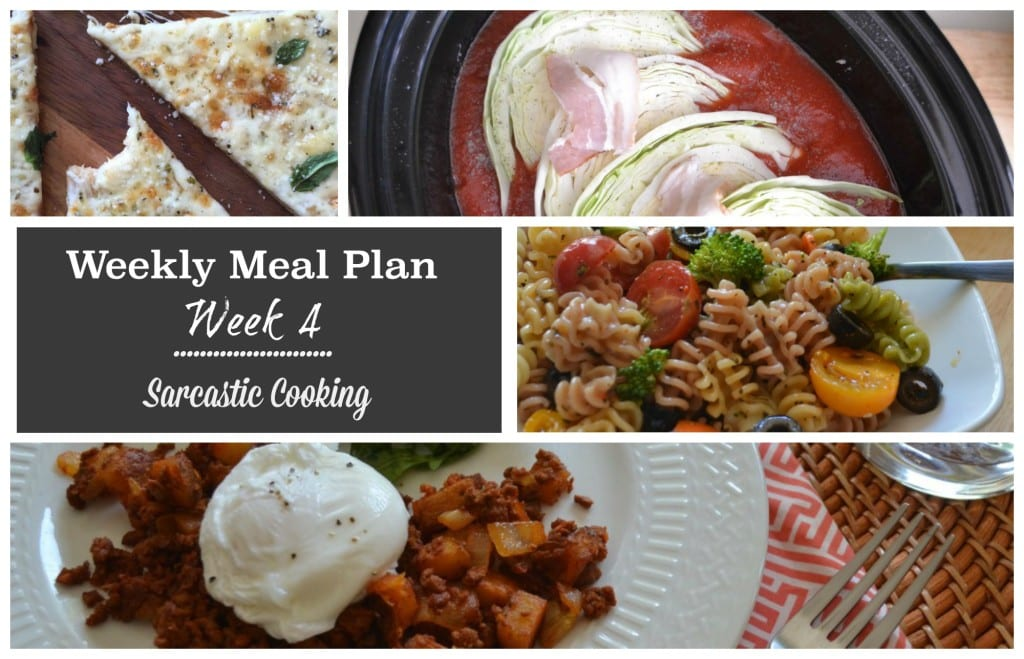 Weekly Meal Plan - Sarcastic Cooking
