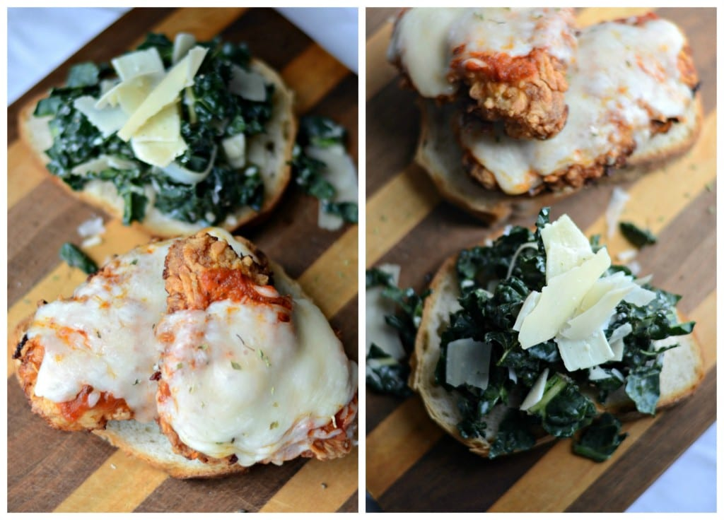 Chicken Parmesan and Kale Caesar Sandwich