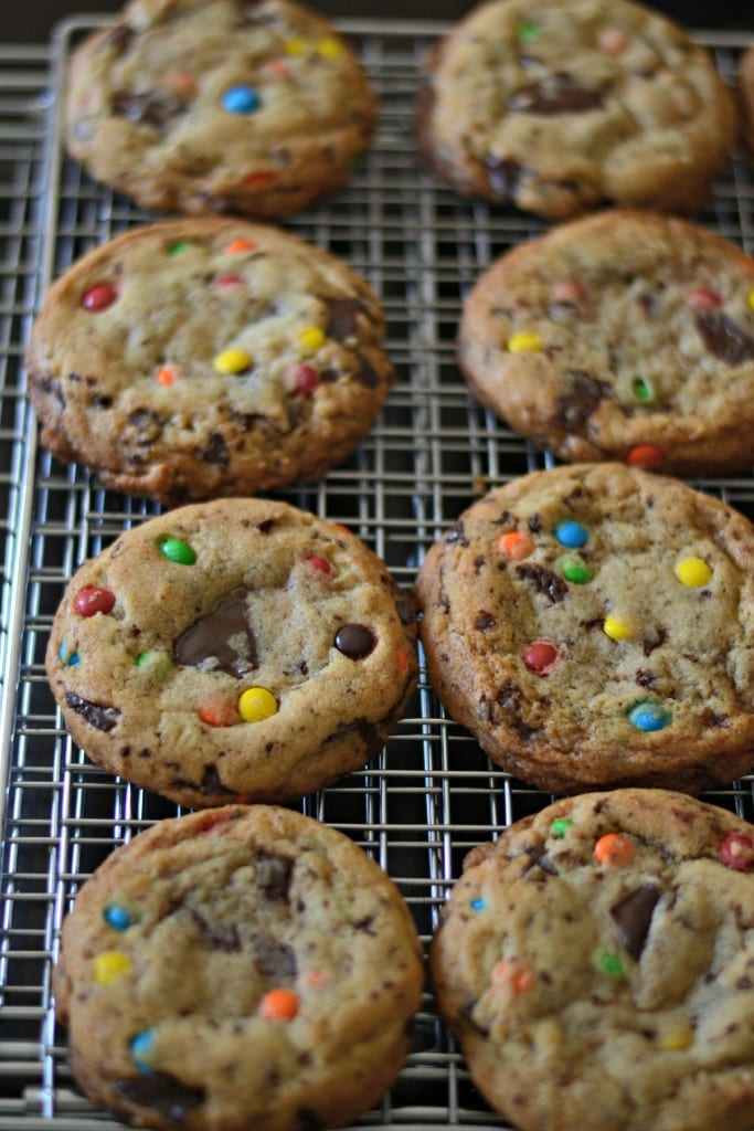 The Best Brown Butter Chocolate Chip M & M Cookies | Sarcastic Cooking