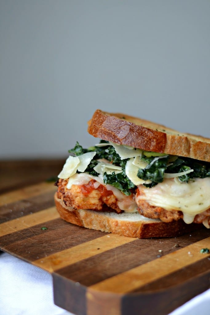 Chicken Parmesan and Kale Caesar Salad Sandwich | Sarcastic Cooking