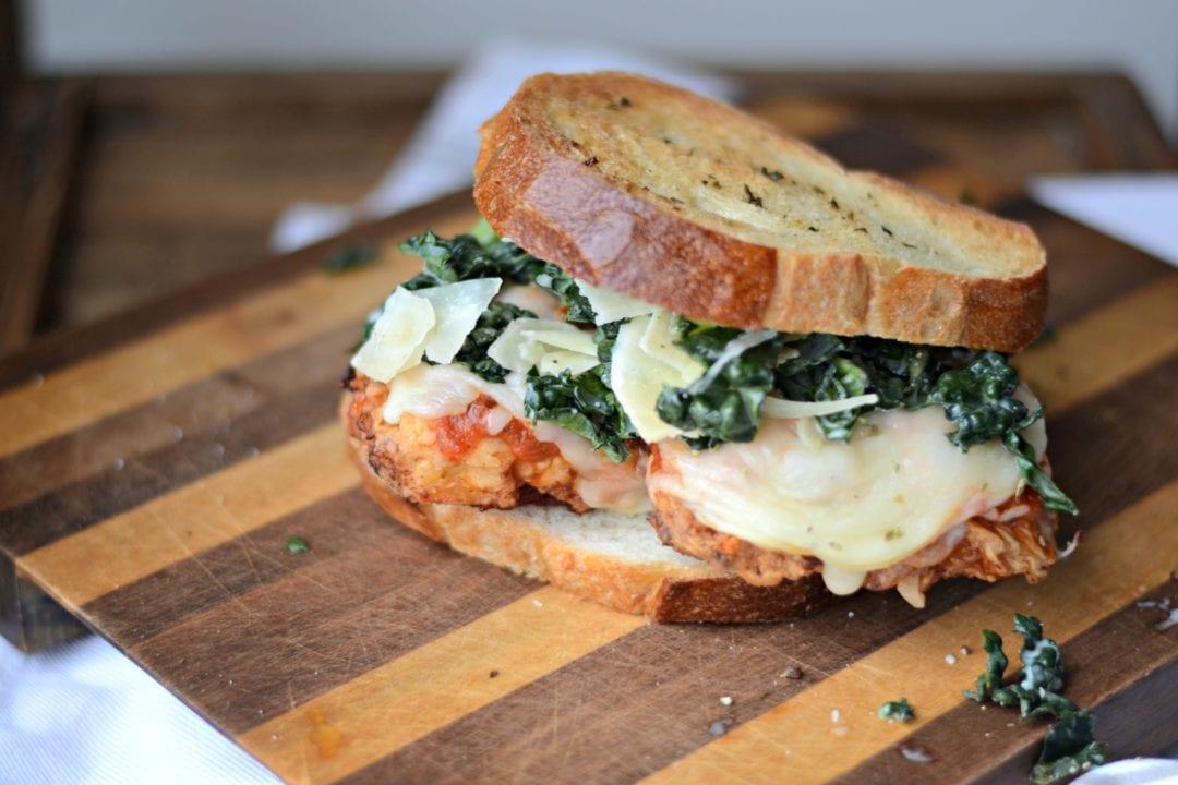 Chicken Parmesan and Kale Caesar Salad Sandwich ...
