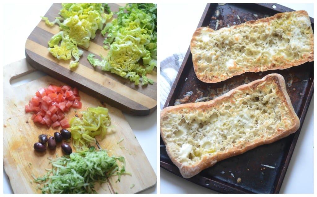 Greek Salad Cheesy Garlic Bread Sarcastic Cooking