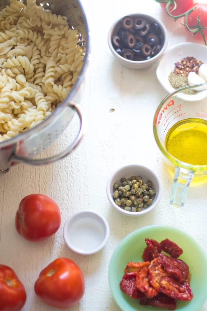 tomato pasta salad ingredients   sarcastic cooking